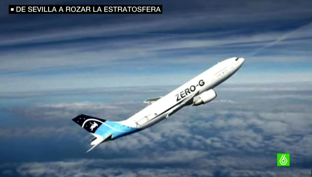 Avión rumbo a la estratosfera