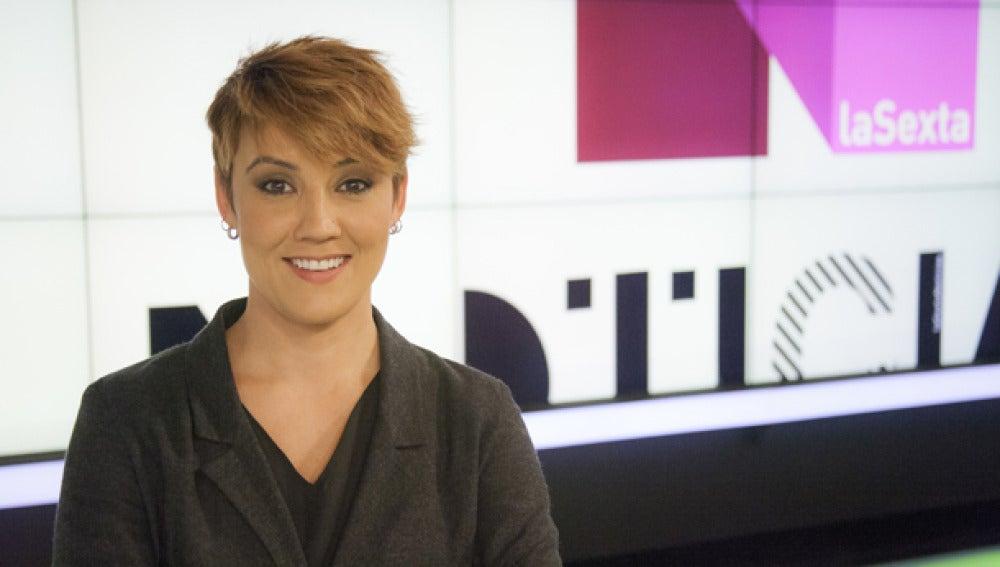 Cristina Pardo en el plató de laSexta Noticias