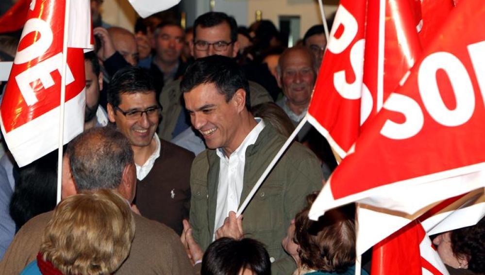 Pedro Sánchez en un acto en Tomelloso