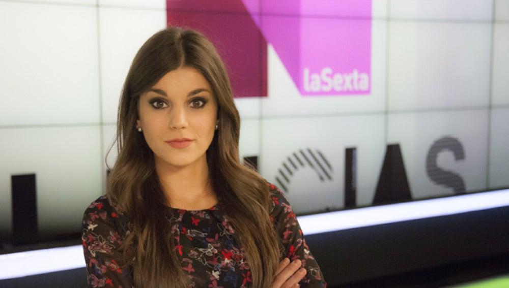 Lorena Baeza en el plató de laSexta Noticias