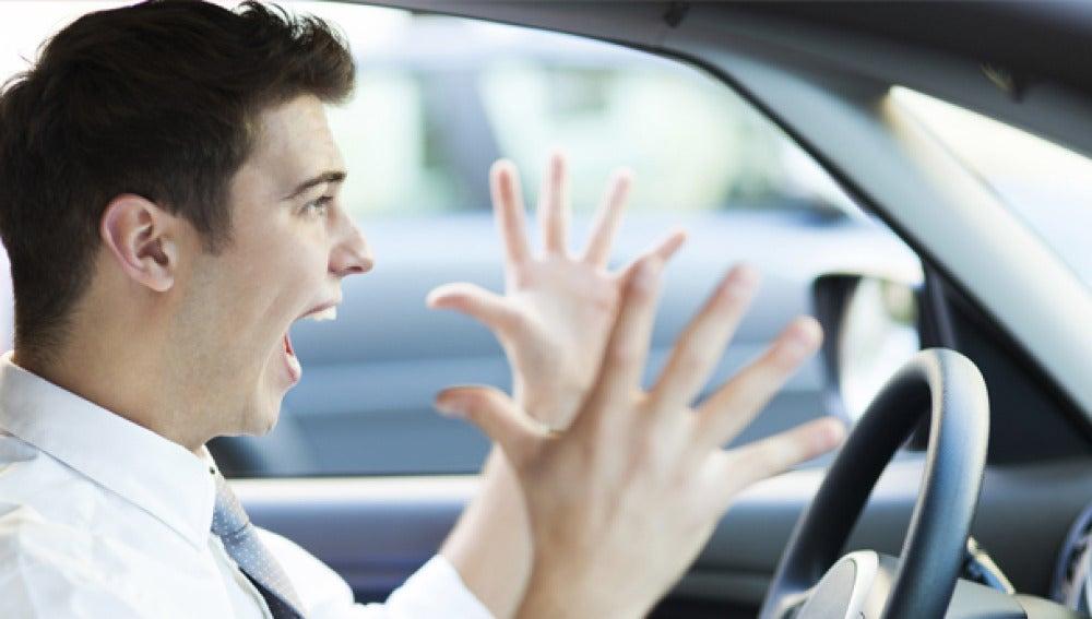 Un conductor entra en pánico