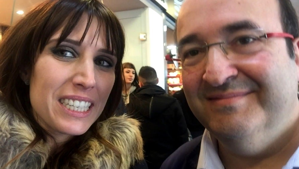 Sara Martín con Mikel Iceta