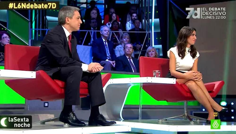 Vicente Vallés y Ana Pastor en la Sexta Noche