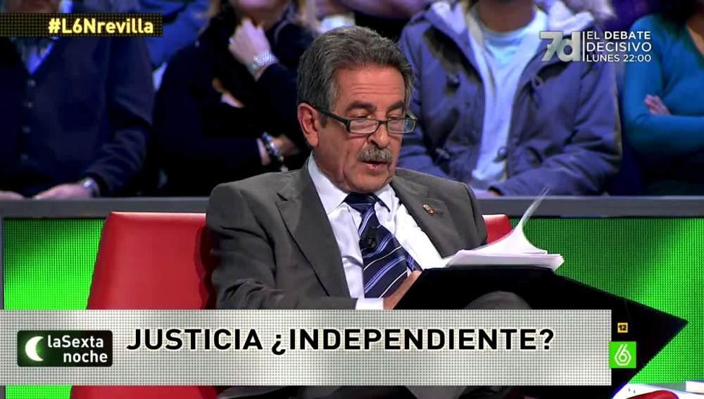 """Miguel Ángel Revilla: """"Me indigna que se vote a personas que han metido la mano"""""""