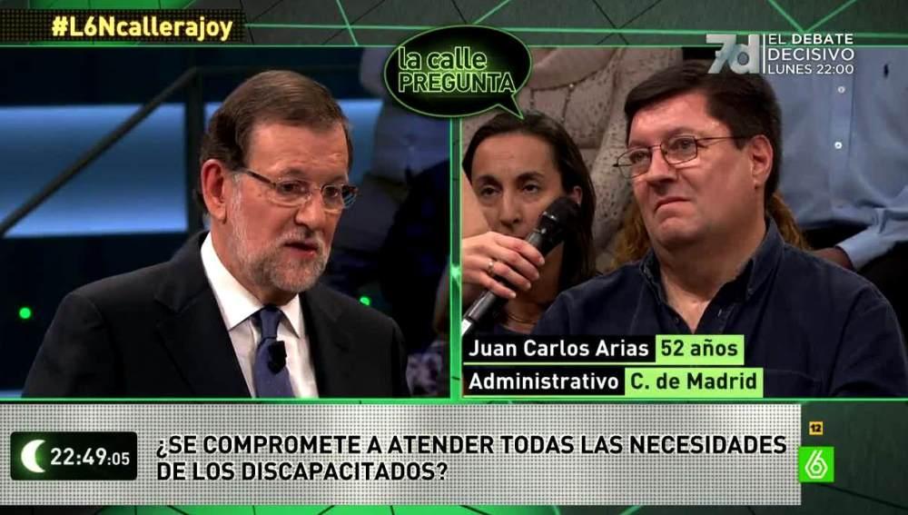 Rajoy sobre las ayudas a discapacitados