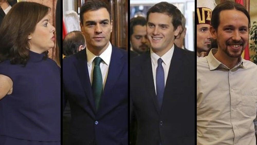 Santamaría, Sánchez, Rivera e Iglesias