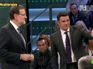 Mariano Rajoy durante su intervención en La Calle Pregunta de laSexta Noche