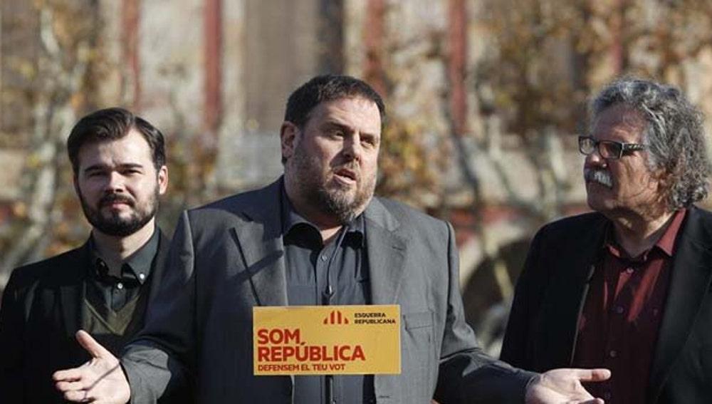 Oriol Junqueras durante un acto electoral