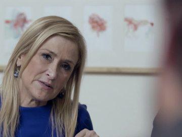 Cristina Cifuentes, en una casa independentista, en Salvados
