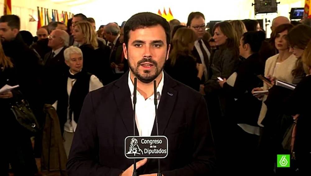 Alberto Garzón habla de Rajoy