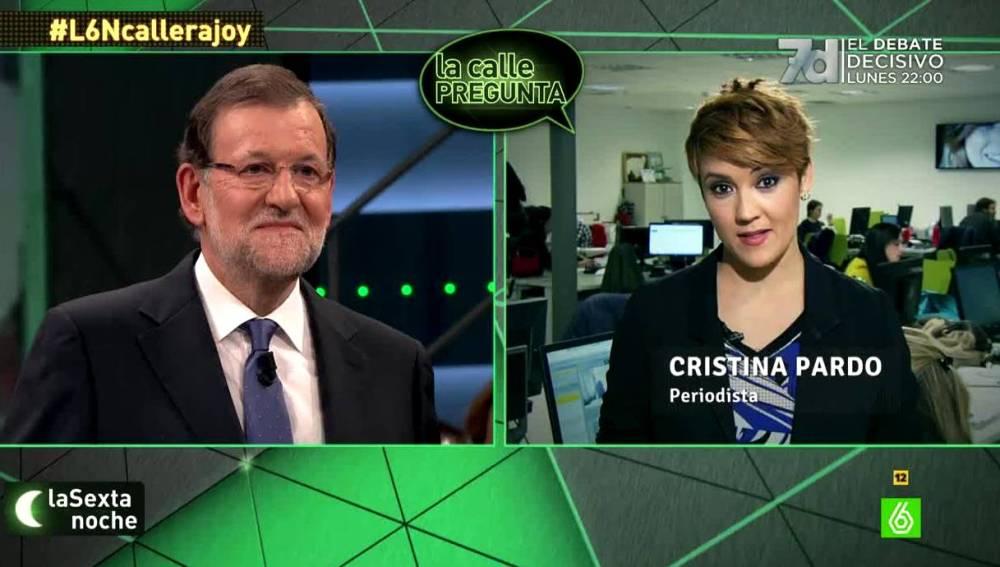 CRistina Pardo pregunta a Rajoy