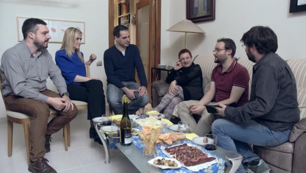 Debate sobre Cataluña en una casa independentista