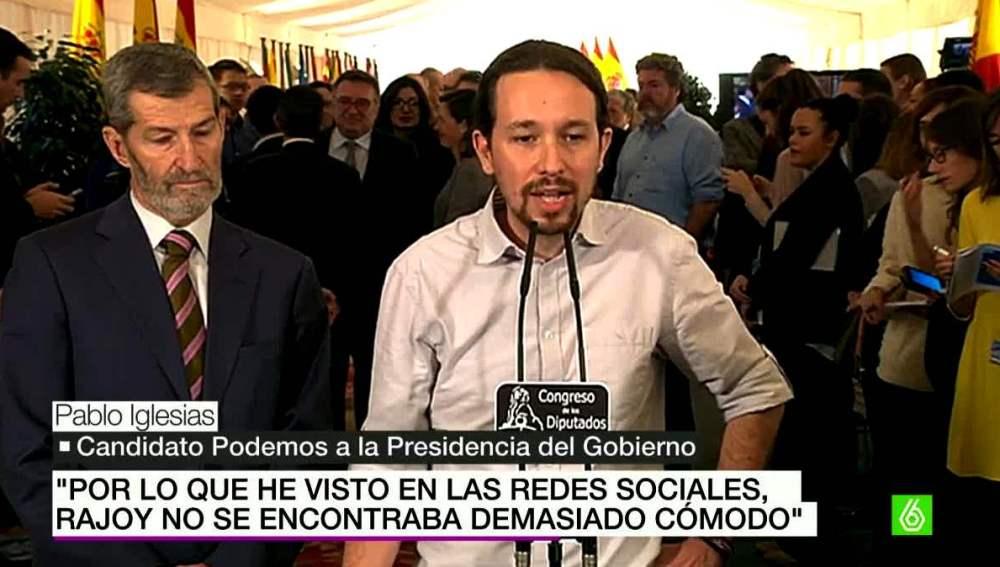 Pablo Iglesias habla sobre Rajoy