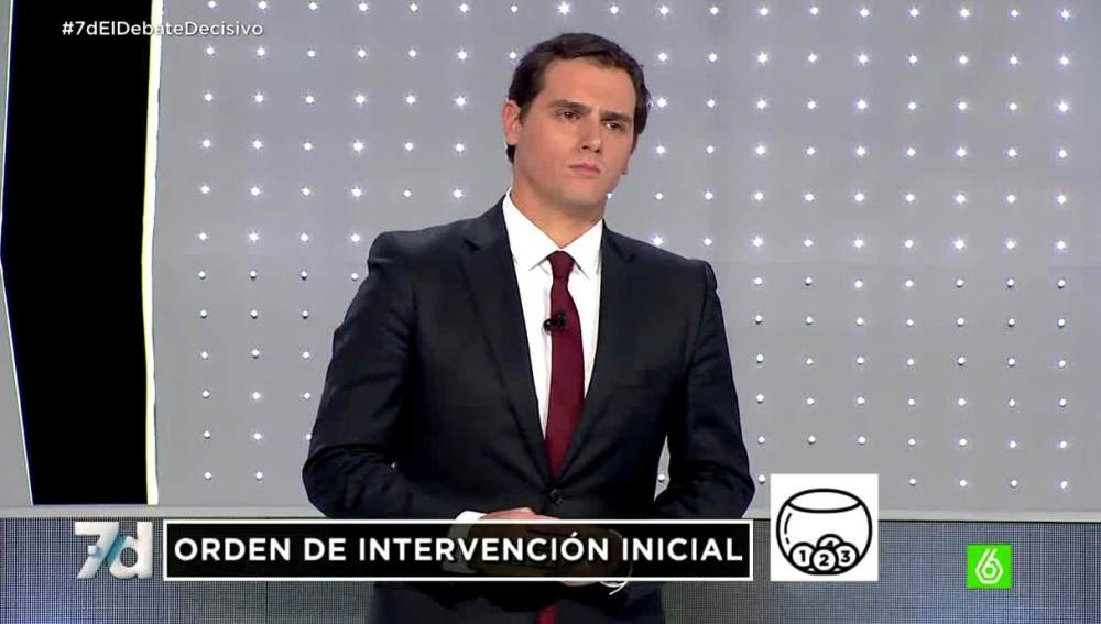 Albert Rivera en el debate del 7D