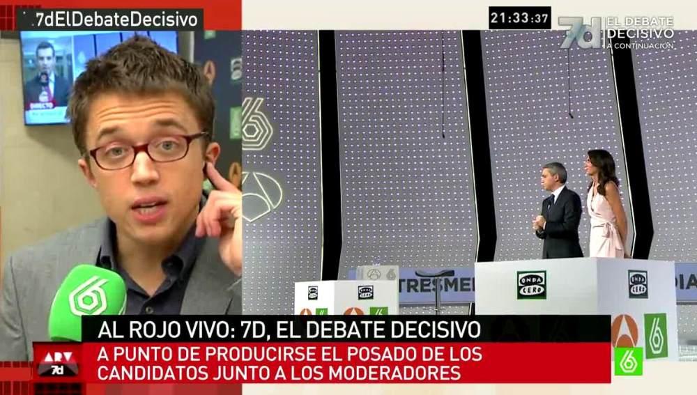 Errejón habla con García Ferreras