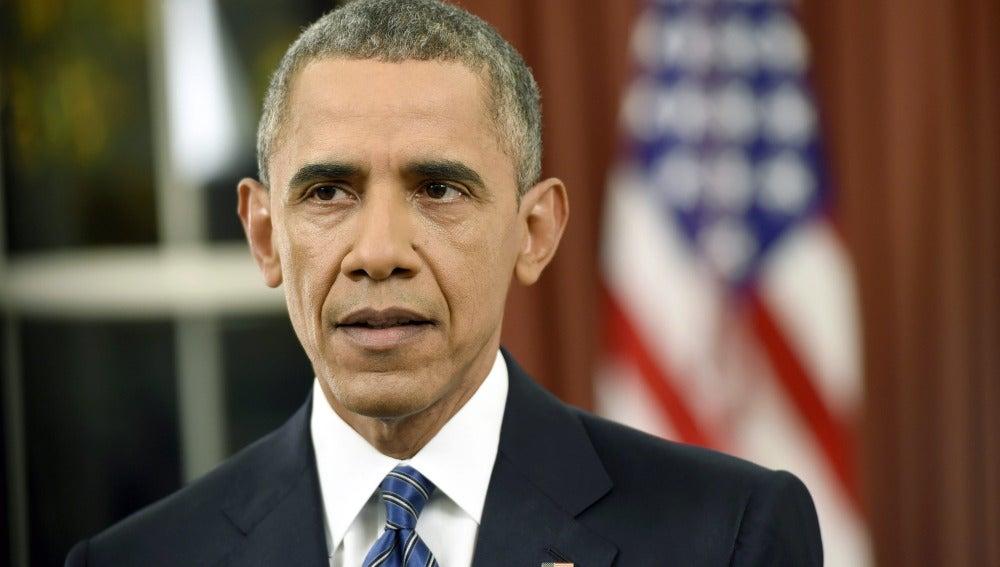 Barack Obama, durante su discurso tras los ataques en San Bernardino, California