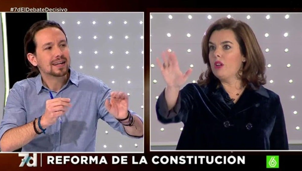 Santamaría y Pablo Iglesias