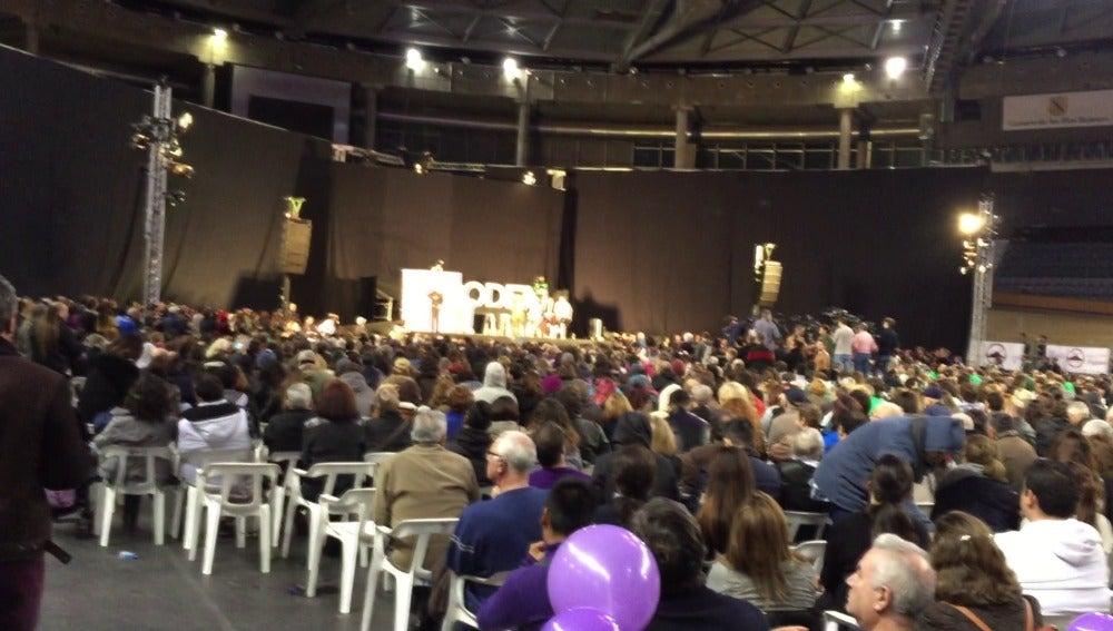 El Palma arena lleno para un mitin de Podemos