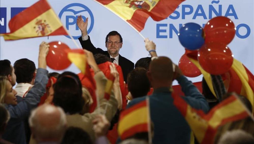 El presidente del Gobierno y candidato del PP a la reelección, Mariano Rajoy