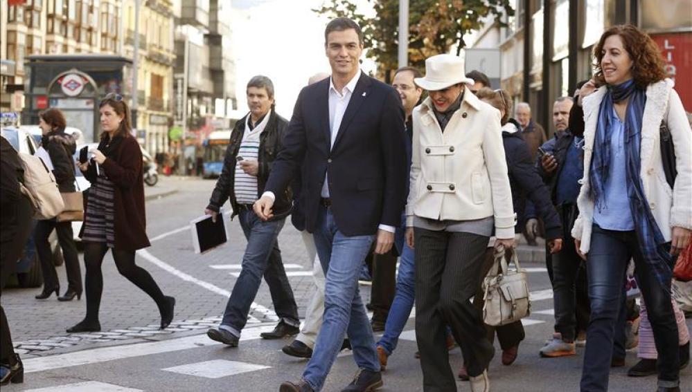 El secretario general del PSOE y candidato a presidente del Gobierno, Pedro Sánchez