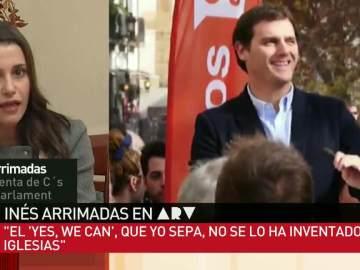 Inés Arrimadas, sobre el 'Sí se puede' de Rivera