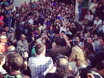 Más de 1.000 estudiantes escuchan a Errejón en Tenerife