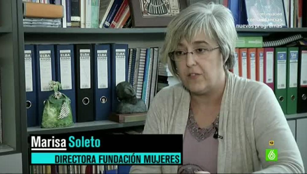 Marisa Soleto, la presidenta de la Fundación Mujeres, en El Intermedio