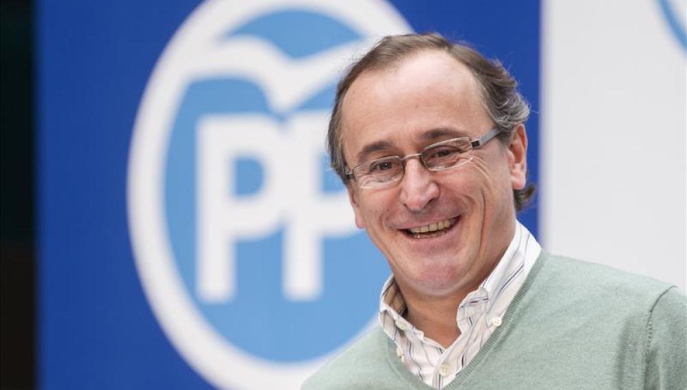 El ministro de Sanidad y cabeza de lista del PP por Álava, Alfonso Alonso