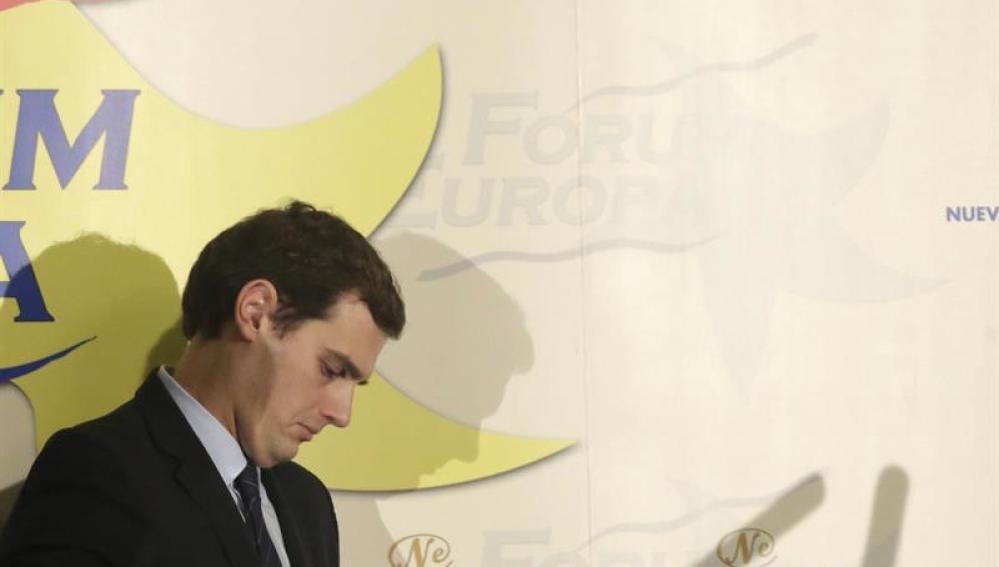 Albert Rivera, a su llegada al Forum Europa