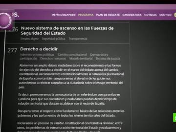 Podemos propone el derecho a decidir en Cataluña