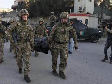 Soldados británicos en el ataque de Kabul