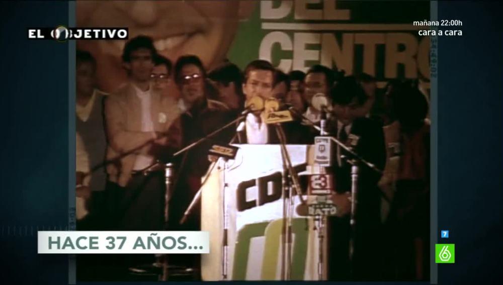 Adolfo Suárez en campaña