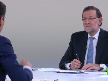 Mariano Rajoy durante el debate