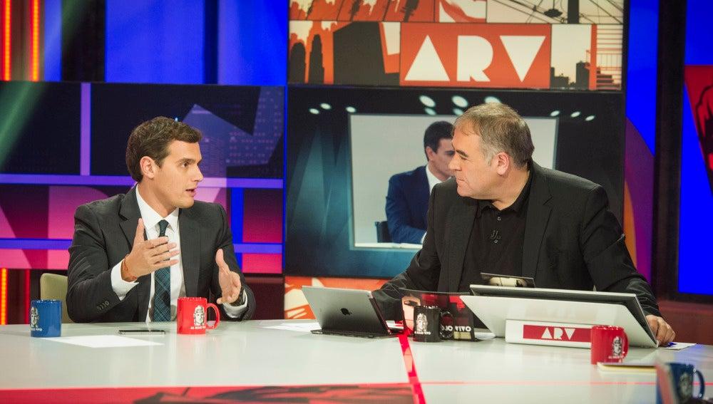 Albert Rivera y Antonio García Ferreras en el Especial ARV Objetivo Elecciones