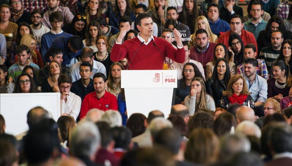 El candidato a la presidencia del Gobierno del PSOE