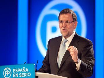 El presidente del PP y candidato a la Presidencia del Gobierno, Mariano Rajoy
