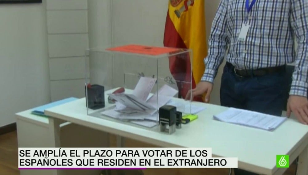 Ampliado el plazo para votar desde el extranjeroi