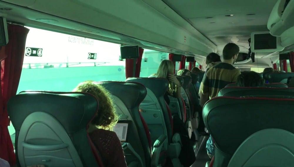 Imagen del autobús del PSOE