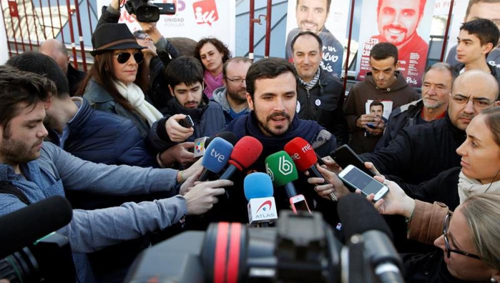 El candidato de Izquierda Unida-Unidad Popular, Alberto Garzón