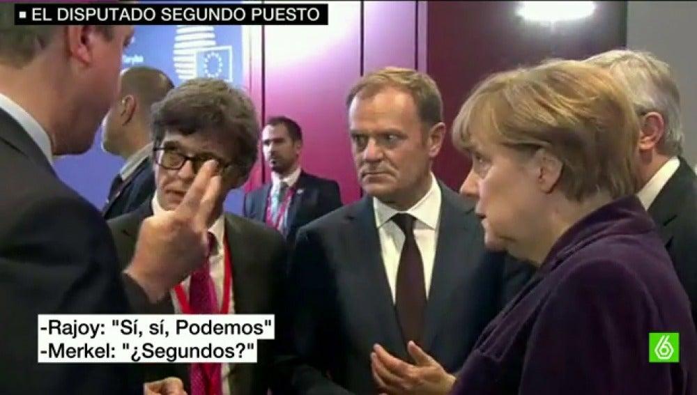 Ángela Merkel, sorprendida tras saber que podría quedar segundo