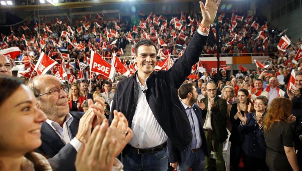 El candidato por el PSOE a la presidencia del Gobierno, Pedro Sánchez