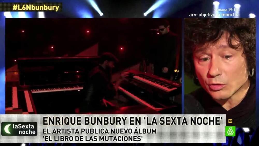 Enrique Bunbury en laSexta Noche