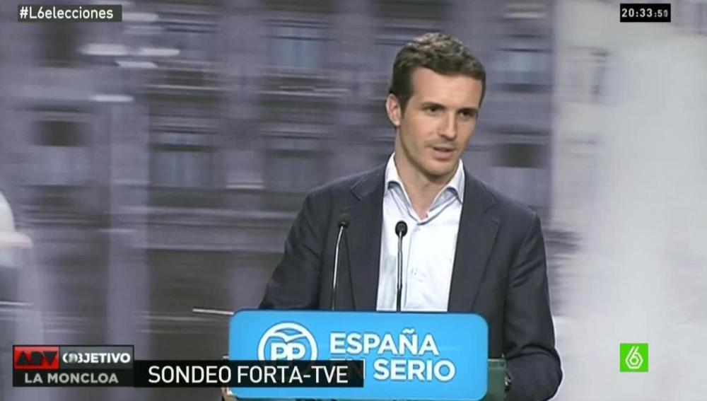 Pablo Casado da la primera valoración en la sede del PP