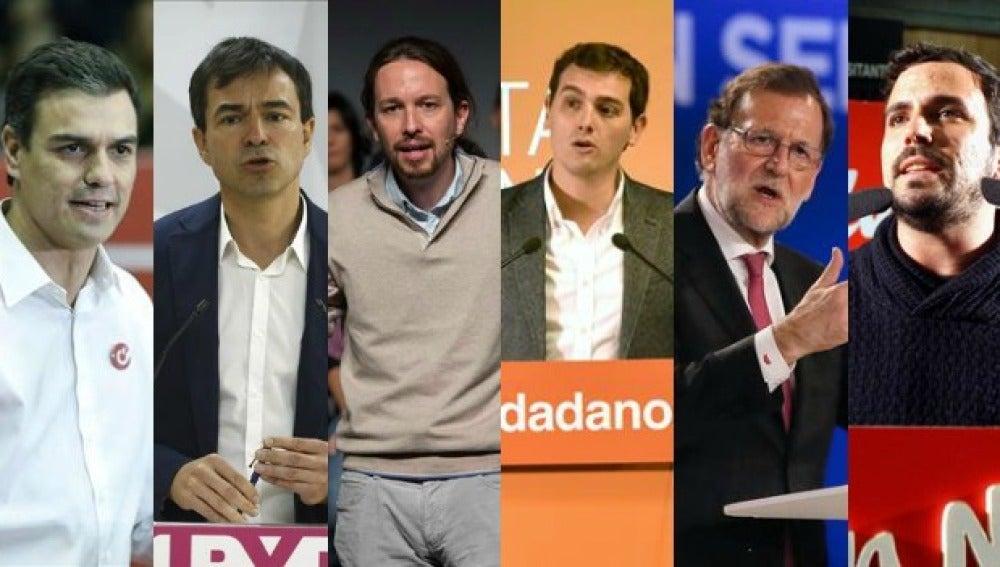 Principales candidatos a la Moncloa