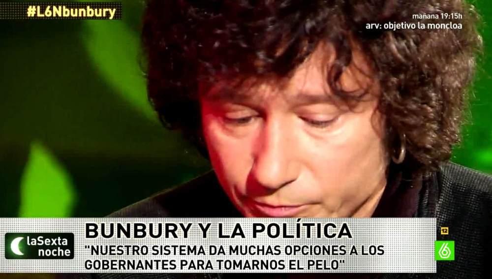 Bunbury habla con Iñaki López