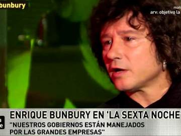 Enrique Bunbury habla con Iñaki López