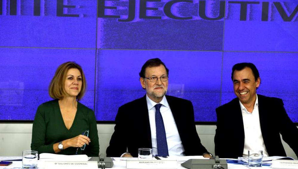 Mariano Rajoy en la reunión de la ejecutiva