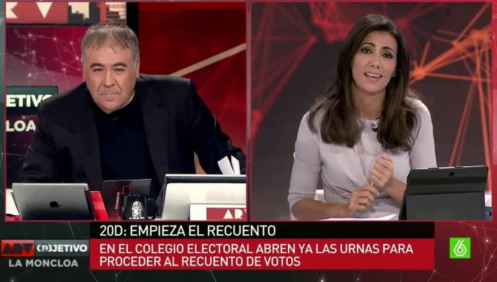 Antonio G. Ferreras y Ana Pastor, en el especial 'Al Rojo Vivo, Objetivo La Moncloa'