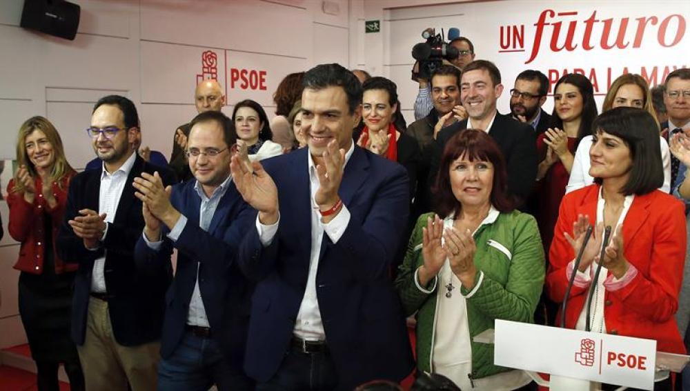 El secretario general y candidato del PSOE al Congreso, Pedro Sánchez