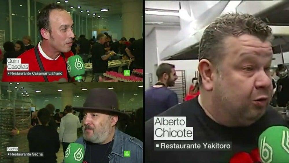 Chefs con estrellas Michelín cocinan para 850 personas sin recursos